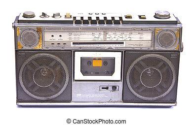 Old vintage Radio isolated on white background