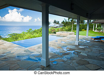 Ocean View From a Lanai - Breathtaking Hawaiian Ocean View...