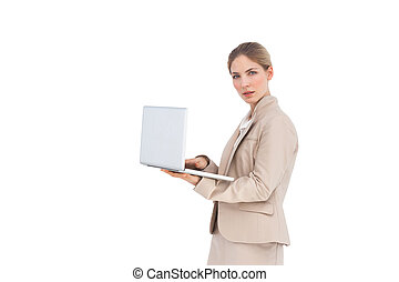 Businesswoman with a laptop