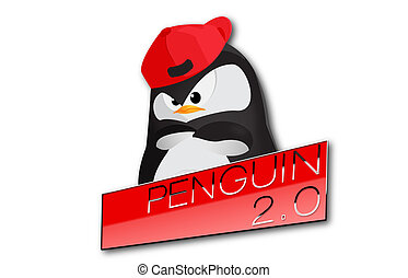 Penguin 2.0 update SEO, link web - An illustration about new...