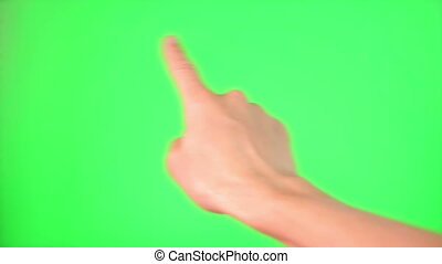 Touchscreen gestures Green Screen