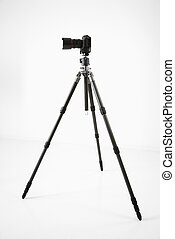 Photography equipment - Studio shot of camera and tripod