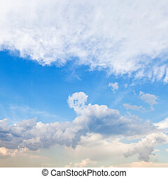 cloudscape with stratus clouds in spring - cloudscape with...