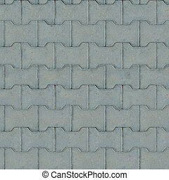 Gray Paving Slabs Seamless Texture - Gray Paving Slabs,...