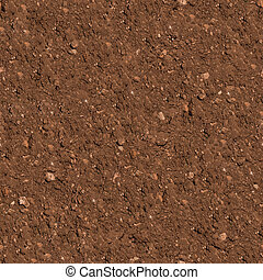 Soil. Seamless Texture. - Brown Plowed Soil. Seamless...