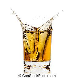 Whisky splash - Splashed whisky with ice cube