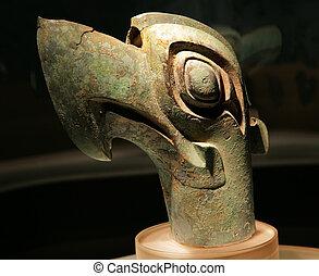 Bronze Bird Statue Sanxingdui Museum Chengdu Sichuan China -...