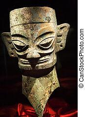 Bronze Mask China - Three Thousand Year Old Bronze Mask...