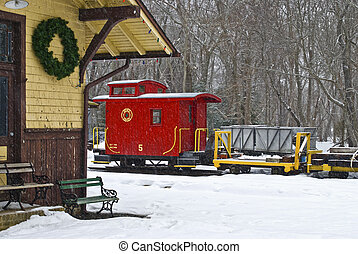 Allaire Train - The Pine Creek Train Station at Allaire...