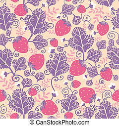 Strawberries seamless pattern background - Vector...