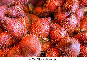 Zalacca fruit, sweet and sour fruit background