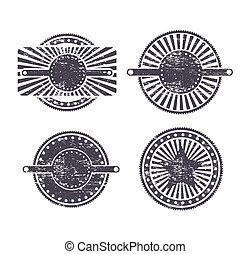 vintage seals over white background vector illustration