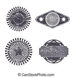 vintage seals over white background vector illustration