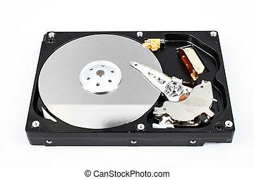 harddisk isolated on white background