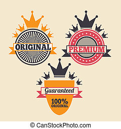 commerce seals over pink background vector illustration