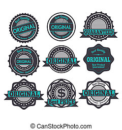 original seals over white background vector illustration