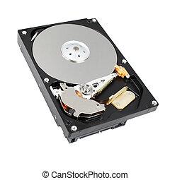 harddisk - open hard drive isolated on white background