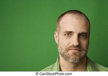 Portrait of Caucasian man.
