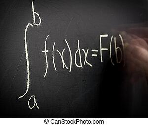 escritura, Cálculo, ecuación
