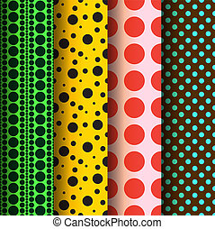 Seamless patterns, polka dots set