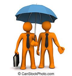 Businessman Umbrella Affiliate