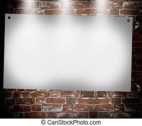 illuminated blank banner