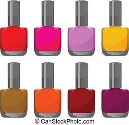 nail polishes - vector set of nail polishes
