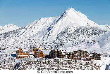 Avoriaz cityscape - Cityscape of the town of Avoriaz in the...