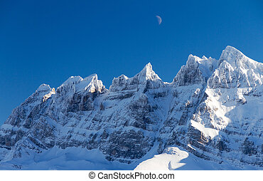 Dents du midi moon - Beautiful mountains of the Dents du...