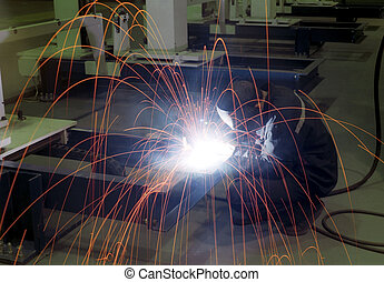 Arc-welding -2 - Arc-welding on the factory shop floor