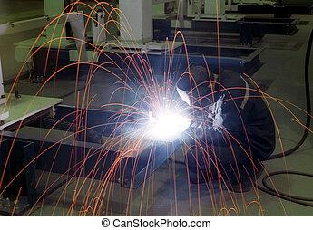 Arc-welding -2 - Arc-welding on the factory shop floor