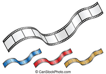 wavy film strip 2 - Film strip isolated on a white...