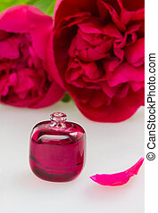 Peonies fragrance - small bottle with essential oil and...