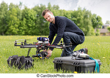 Portrait of an UAV Aerial Photography - An UAV pilot and...