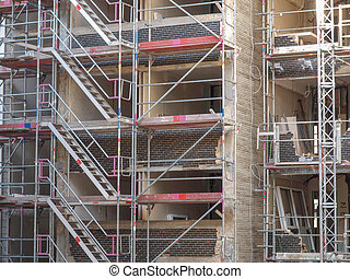 Scaffolding - Temporary scaffold for construction works at...