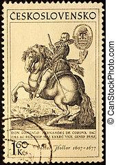 Hollar Engraving Stamp - CZECHOSLOVAKIA - CIRCA 1969: A...