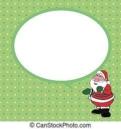 Santa claus  with speech bubble vec