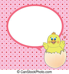 chicken with speech bubble vector