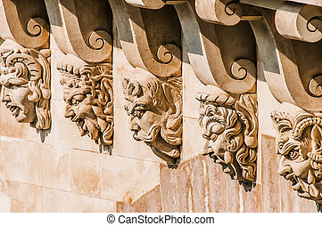 detail of pont neuf paris city France - detail of pont neuf...
