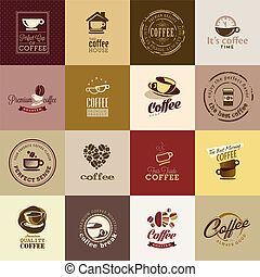 Set of coffee icons - Set of different coffee icons