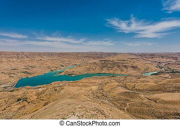 Wadi El Mujib Dam and Lake, Jordan - Wadi El Mujib Dam and...