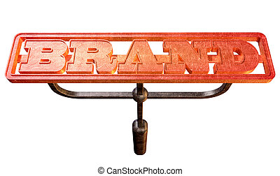 Metal Branding Brand Glowing Red Hot Front - A metal cattle...