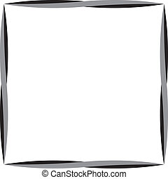 Gray and black corver frame background