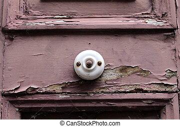 bell on an old door