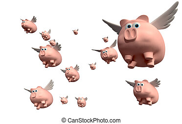 When Pigs Fly Group - A literal description of a group of...