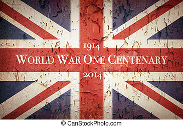 World War One Centenary Union Jack - Vintage style Union...