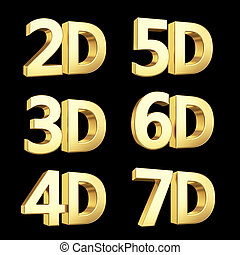Golden symbol isolated on white with clipping path