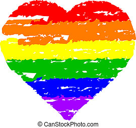 colorful heart - Vector illustration of colorful heart