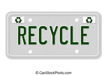 Recycle Car License Plate