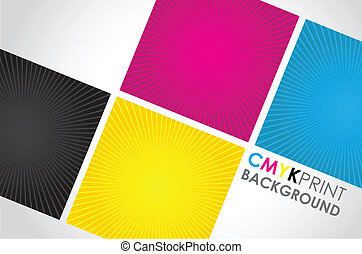 cmyk spiral boxes - a set of four cmyk spiral boxes